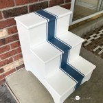 stepstool makeover by door