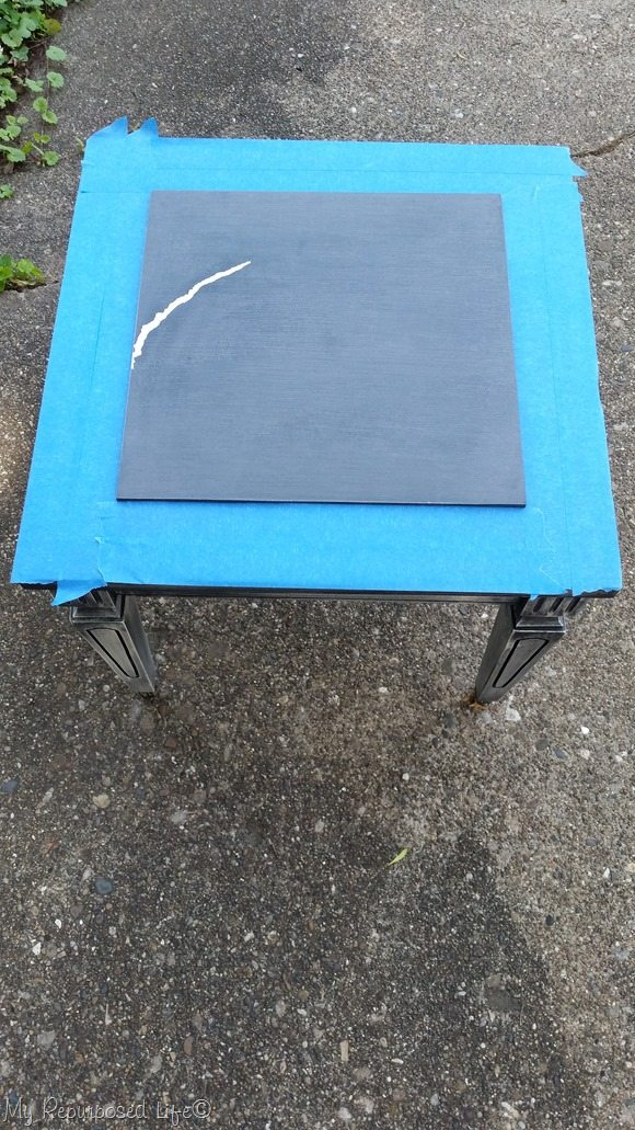table top with big scratch