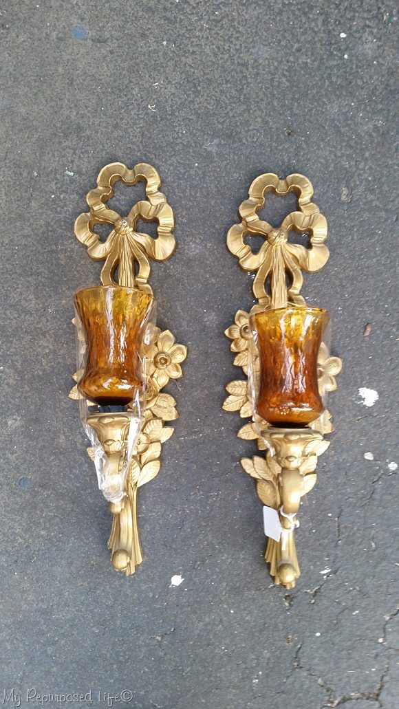 ugly gold wall sconces