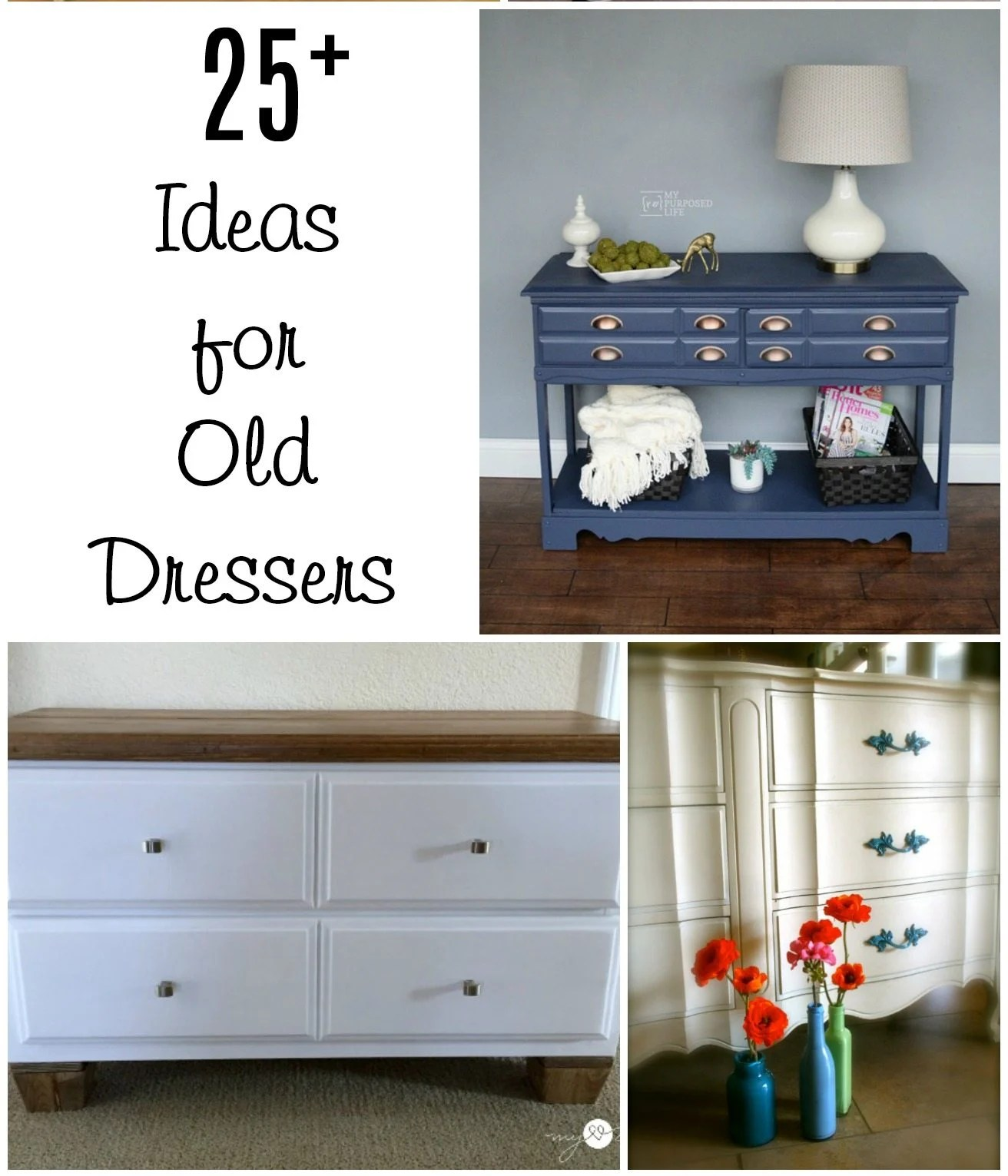 Repurposed Furniture Old Dresser Ideas And Makeovers