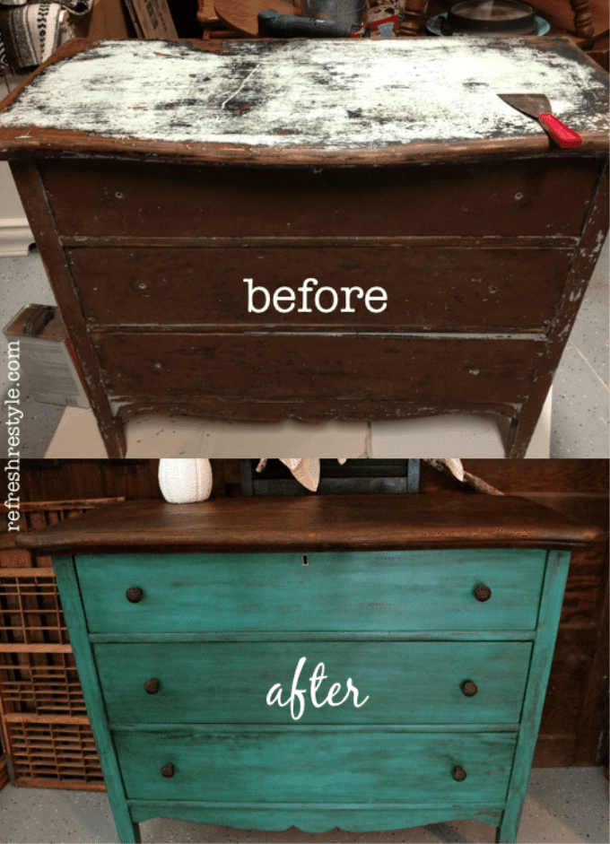Awesome-Emerald-green-dresser-makeover-painted-furniture-idea-that-you-can-do-yourself