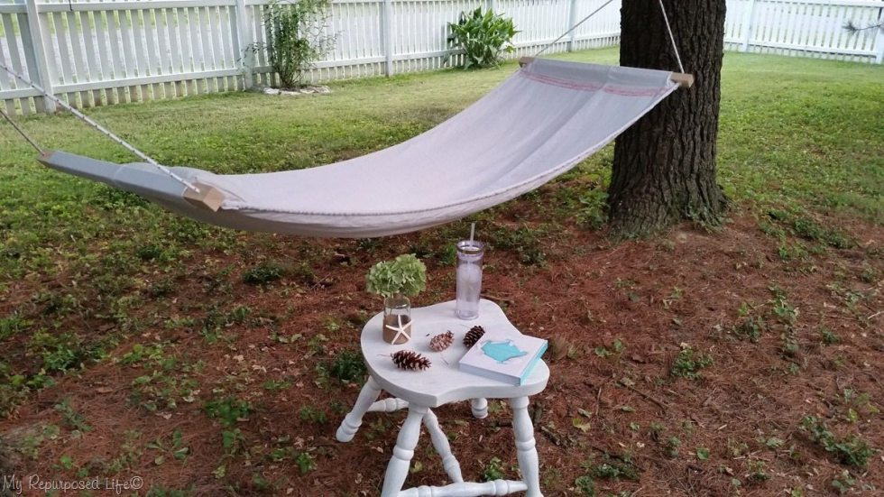 diy drop cloth hammock with pillow