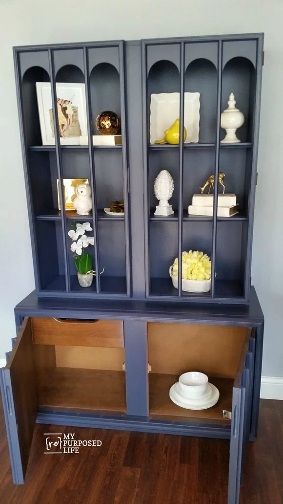 mid century hutch bottom cabinet MyRepurposedLife.com