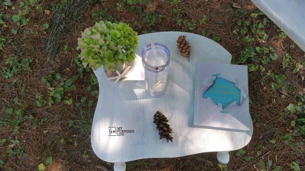 repurposed chair side table MyRepurposedLife.com