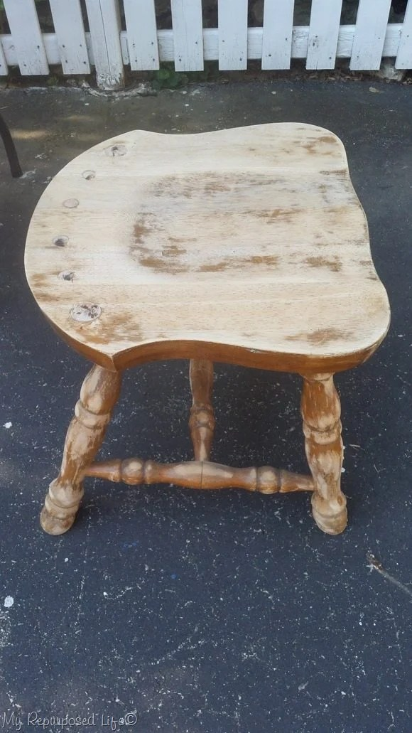 sanded chair side table