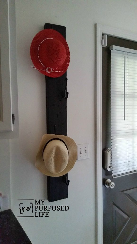 vertical coat rack for hats coats MyRepurposedLife.com