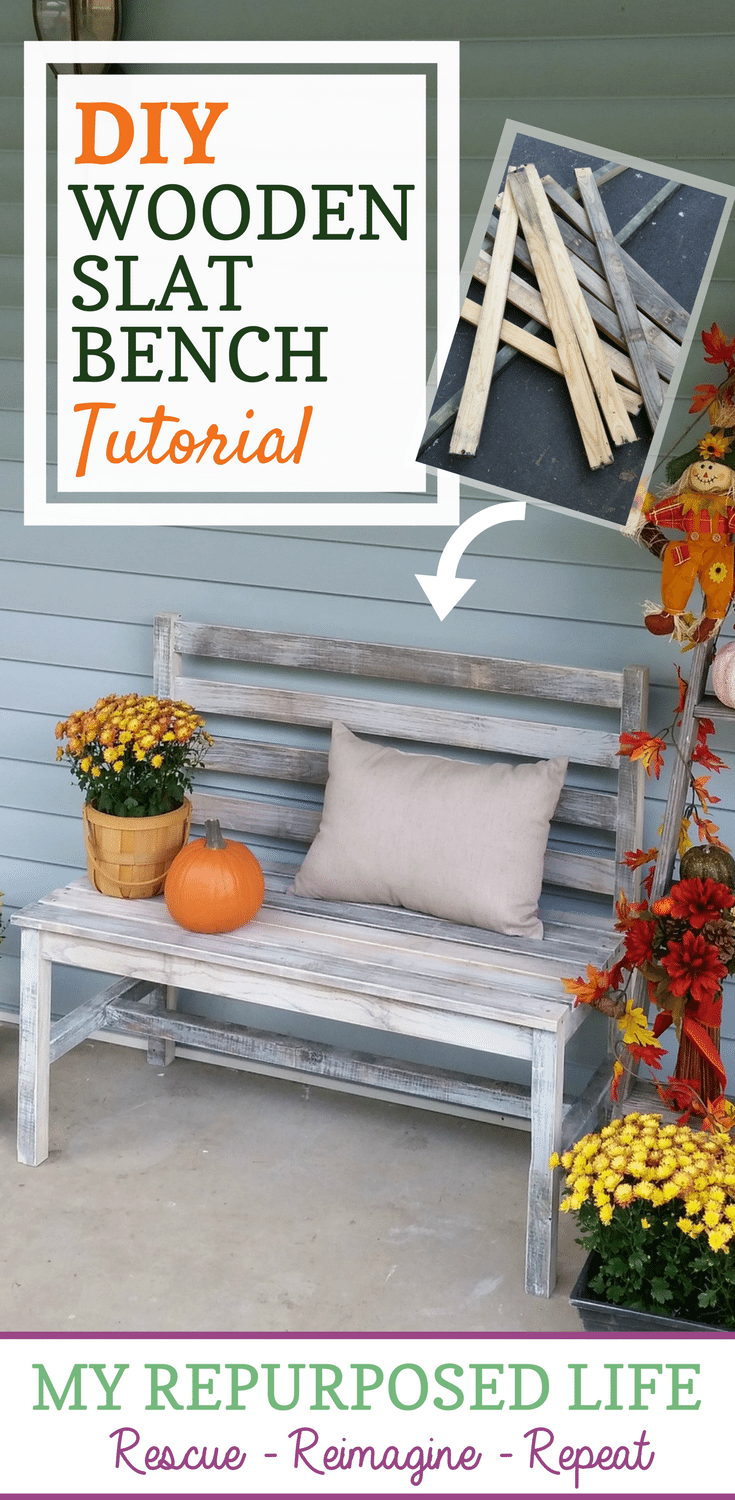 Make your own bench from Pallet wood or other reclaimed wood with these plans