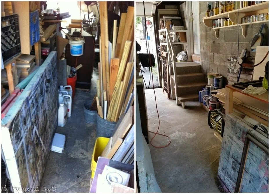 inside wall before and after