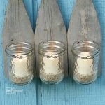 Picket Fence Candle Sconce using Jelly Jars