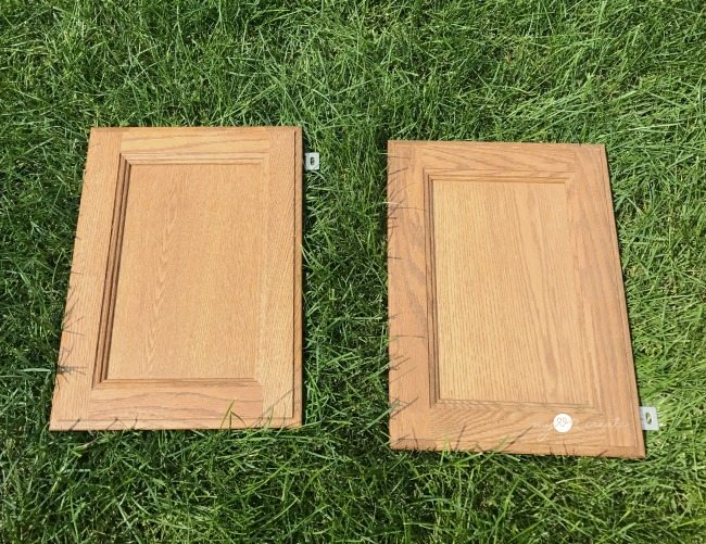 small cabinet doors before
