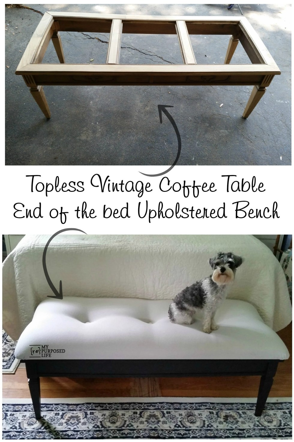 coffee table bench upholstered for end of the bed
