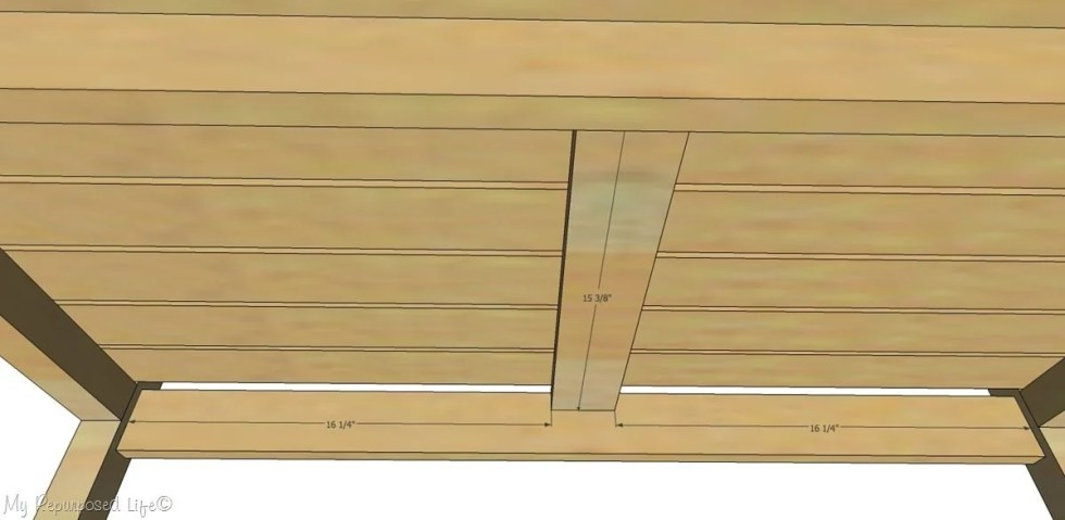 underside diy wooden bench with back