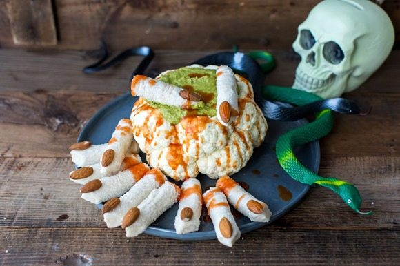 Cauliflower Brain and Dead Man's finger sandwiches 1
