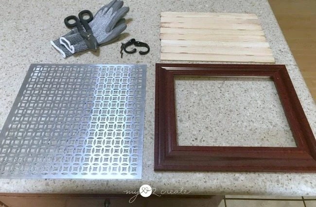 supplies to make a picture frame jewelry holder