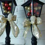 DIY Christmas Lanterns made from Porch Lights