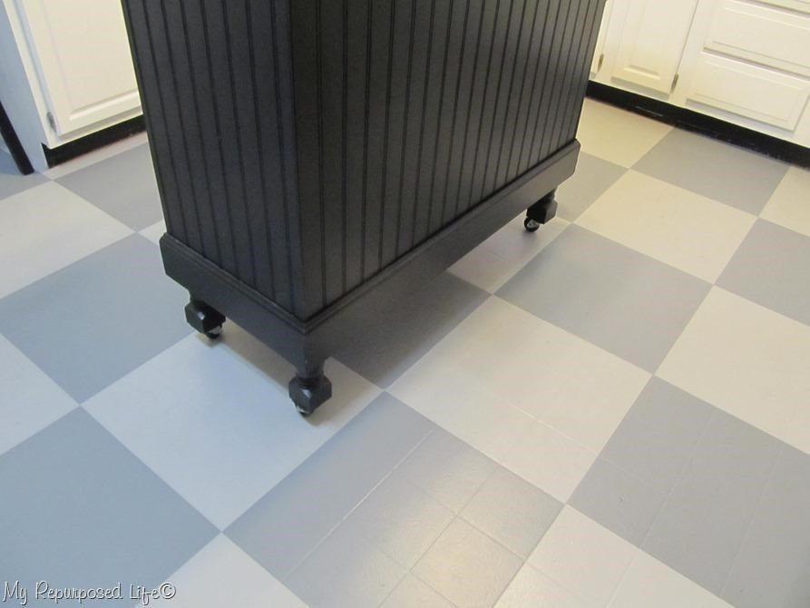 how to paint vinyl kitchen floor