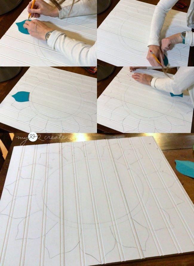 tracing petal shape around circle