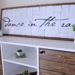 DIY Planked wood sign