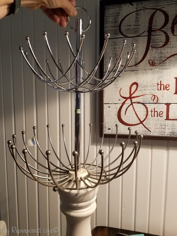 dry fit lamp necklace holder jewelry organizer