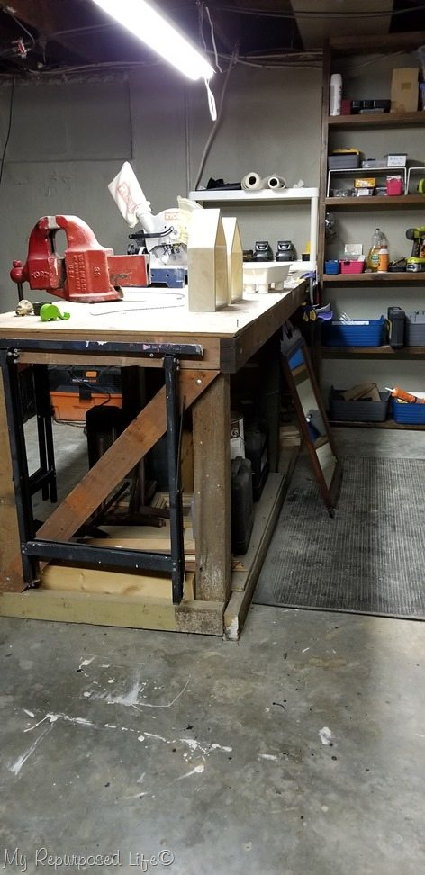 basement shop workbench