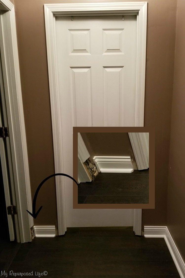 craftsman door trim before