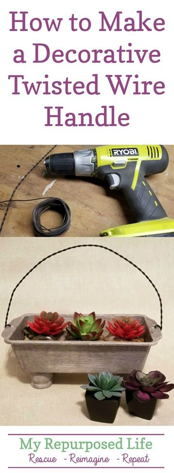 how to make a decorative twisted wire handle MyRepurposedLife.com
