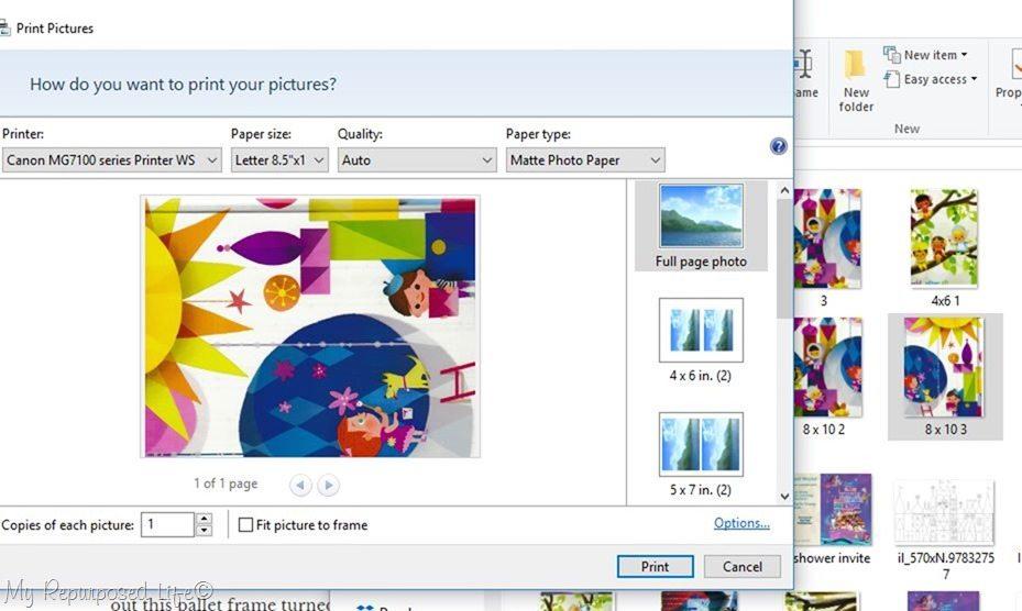 print design on presentation paper