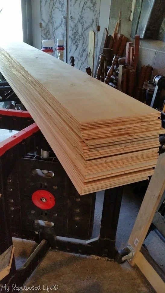 rip larger pieces into smaller planks