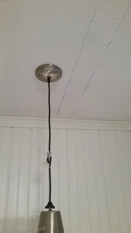 snap chalkline to find center of popcorn ceiling