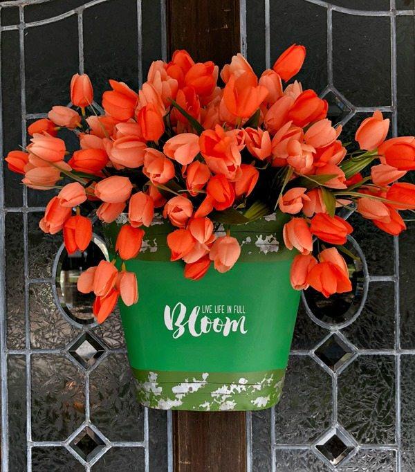 Bucket-of-tulips-for-the-door
