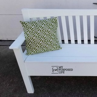 diy white mission style headboard bench