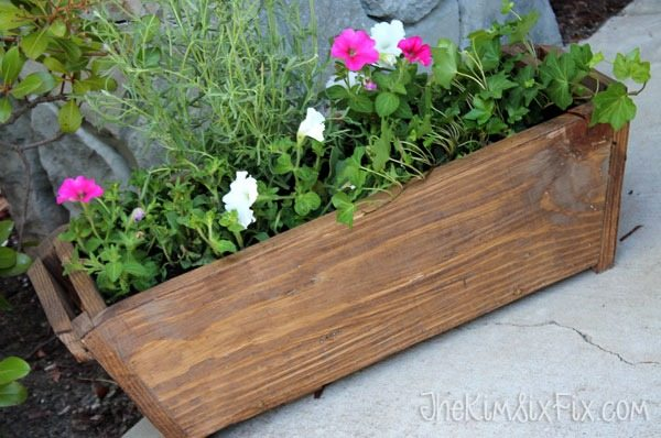 Wooden-tapered-flower-box