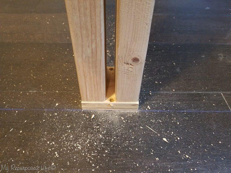attach 2x4 studs to floor