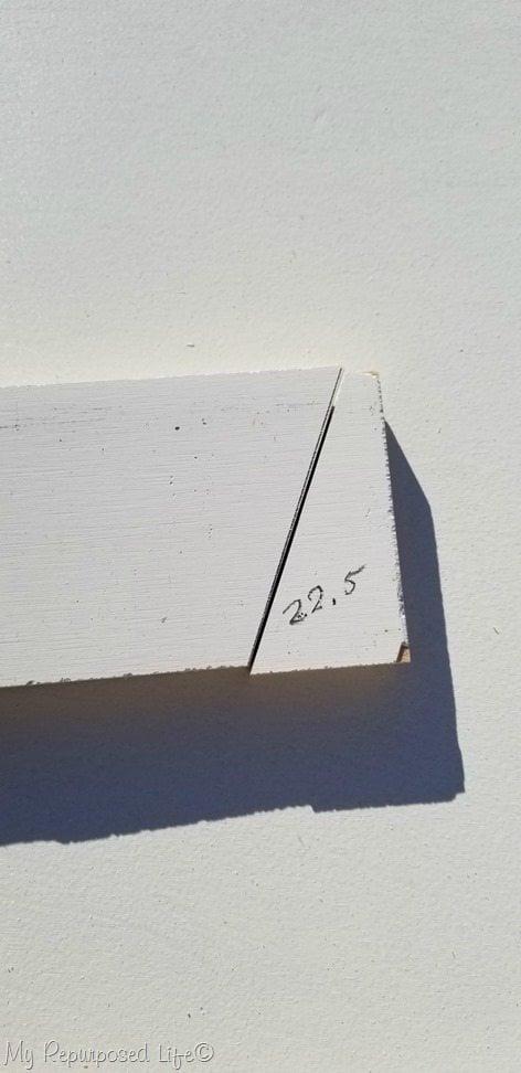 cut barn door angle at 22.5