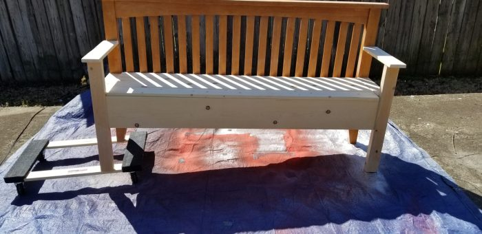 how to easily move headboard bench with dolly