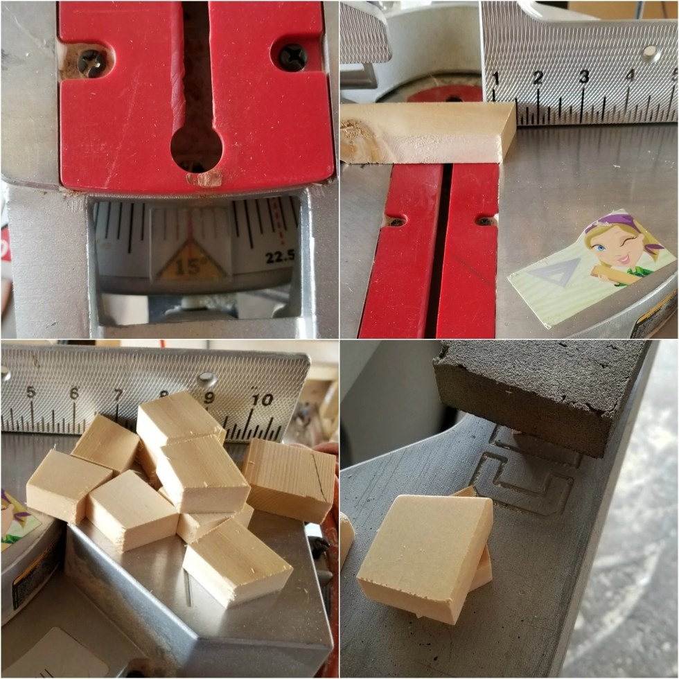 make small easels for decoupage wooden letters