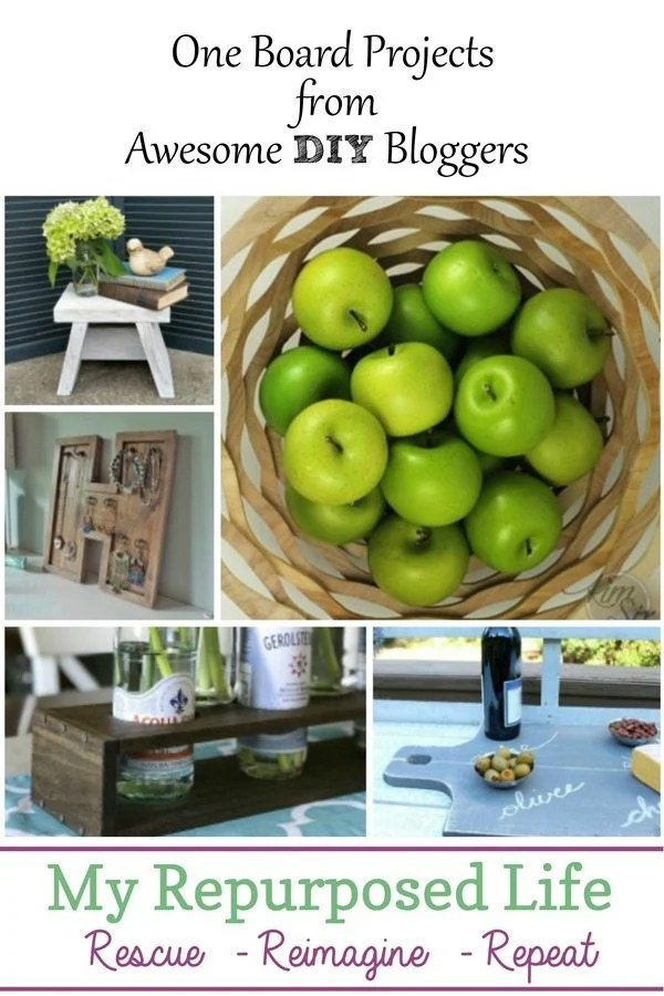 one board projects from awesome DIY bloggers MyRepurposedLife.com