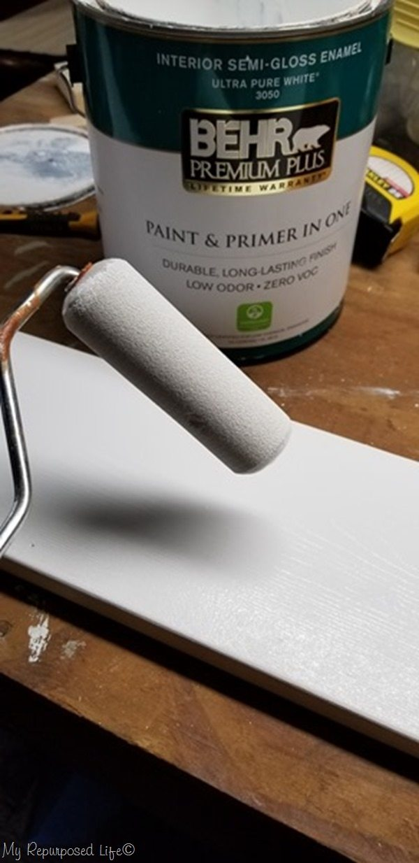 paint grow chart with sponge roller