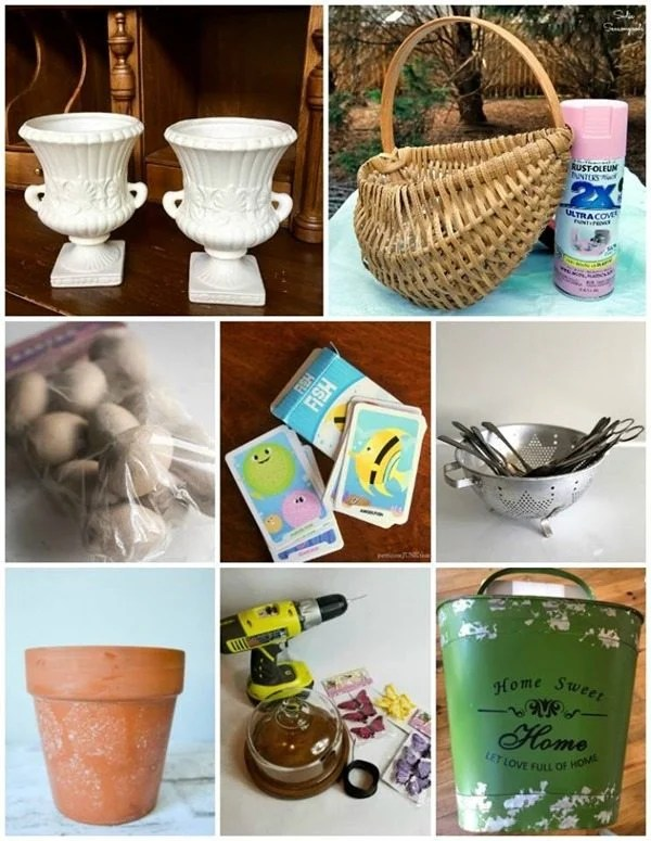 spring ideas using thrift store items