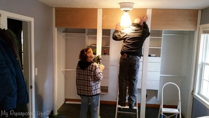 using plywood for closet header