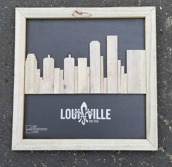 Louisville Ky rustic skyline artwork MyRepurposedLife.com