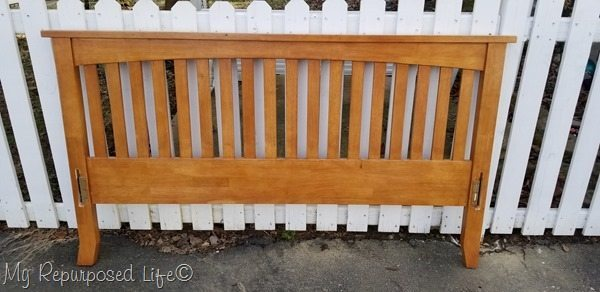 Mission Style Headboard Bench
