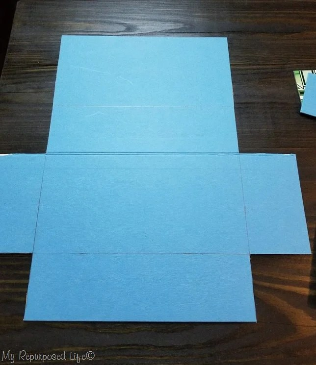 cut away scrap pieces to make game board gift box