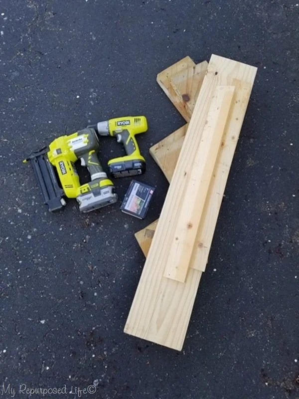 items to turn stair stringers into tiered plant stand