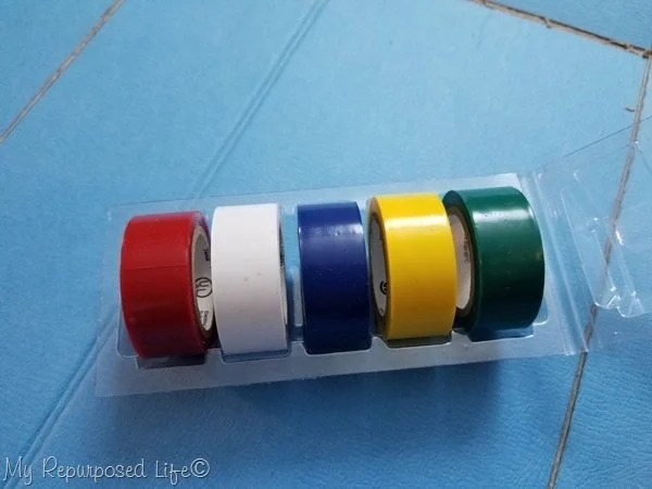 multi colored electrical tape