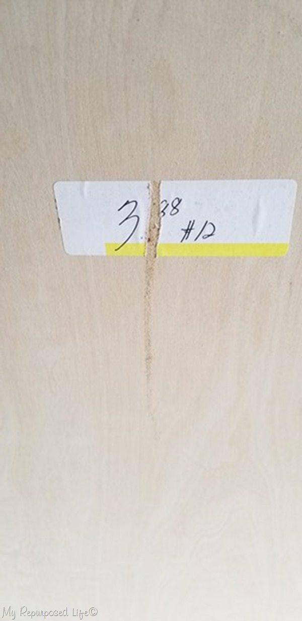scrap plywood board