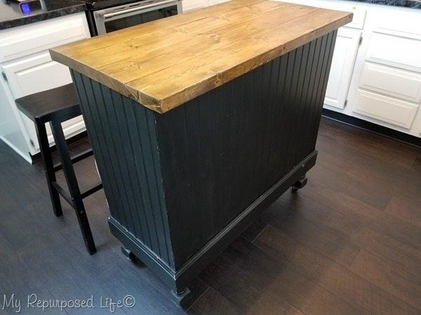 update kitchen island craft table