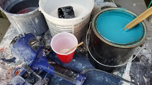 diy chalky paint as a primer