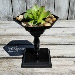 Small Wooden Pedestal Planter Made with a Spindle