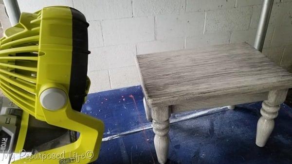 dry glaze with portable fan